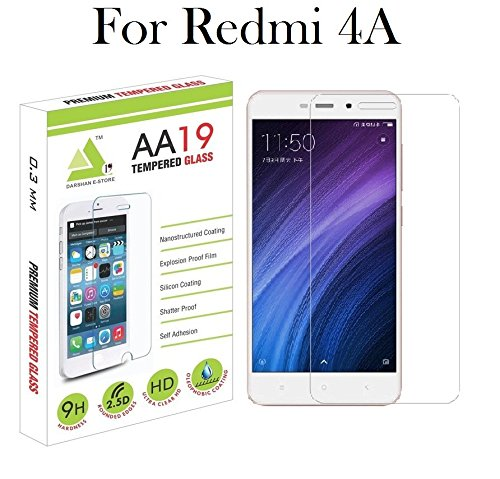 Redmi 4A [5 inch] Tempered Glass Screen Guard Protector By AA19
