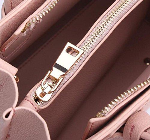 Damen-Beutelhandtasche Einfaches Verschluss-Schulterbeutel-Diagonalpaket Grey1