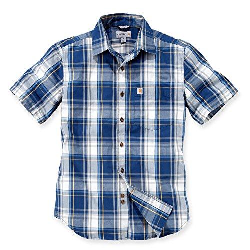 Mens Short Sleeve Oxford Shirt (Carhartt NEW Slim Fit Plaid Short Sleeve Shirt
