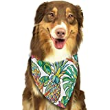 Hipiyoled Colorful Pineapple Art Adjustbable Collars Pet Bandana Bibs for Puppy Cats