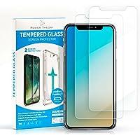 Power Theory iPhone X/XS Schutzfolie (2 Stück) - Japanisches 9H Panzerglas/Panzerglasfolie, HD Displayschutzfolie/Panzerfolie, Tempered Glas Schutzglas, Handy Folie 3D Hartglas, Screen protector Glass