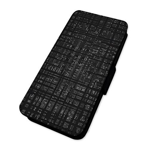 Abstrakt Computer Codierung–Flip Case Wallet Cover Card Holder Samsung Galaxy S4 Computer-codierung