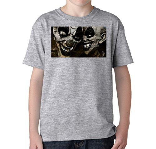 Bilder Scary Clowns Von (Scary halloween retro clowns Unisex Kinder baumwolle T-Shirt M 134-140)