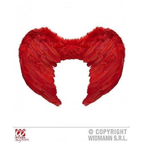 Flügel aus roten Federn nicht nur für dunkle Engel und Dämonen Kostüme ca. 37 x 50 cm