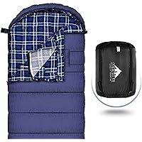 Sac de couchage en flanelle de coton pour adultes, 230x89cm XL, imperméable, idéal pour la randonnée, les voyages, le camping, la randonnée et les activités de plein air avec sac de compression
