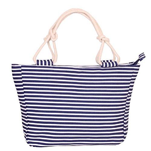 Womens Ladies Canvas Beach Tote Fashion Bag Shopping Bag Handbag (15)