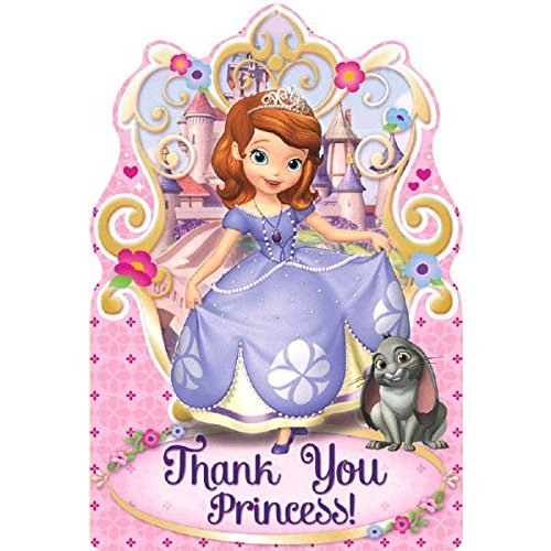 8-Count Sofia The First Postcard Thank You Notes