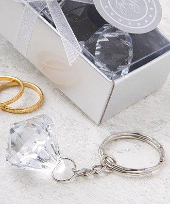 Klar Diamond Collection Diamant-Design Schlüsselanhänger (Schlüsselanhänger Diamant-ring)