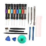 DIYI 20 teiliges Werkzeug Kit Schraubenzieher Reparatur Tool für Smartphone, Laptop, iPhone 4 5 6 6plus, Samsung, Huawei, Blackberry, HTC und iPad
