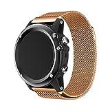 Wawer Milanese Magnetic Loop Edelstahl Armband Uhrenarmband für Garmin Fenix 3 Smart Watch (Roségold)