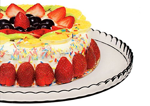 PASABAHCE ' 10345 – Plateau à gâteau, plat à gâteau, plateau Cupcake, série Pâtisserie, Ø 32,2 cm