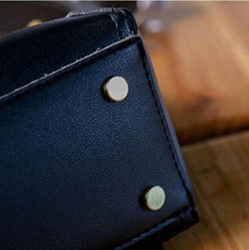 FZHLY Versione Coreana Benne Tracolla Semplice Moda Rivetti Tracolla,Black Green