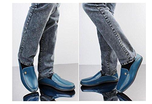 Mocassini Slip-on Basso Top antisdrucciolevole Moda comoda Soft Soles Casual Uomo Scarpe UE Taglia 37-45 Blue