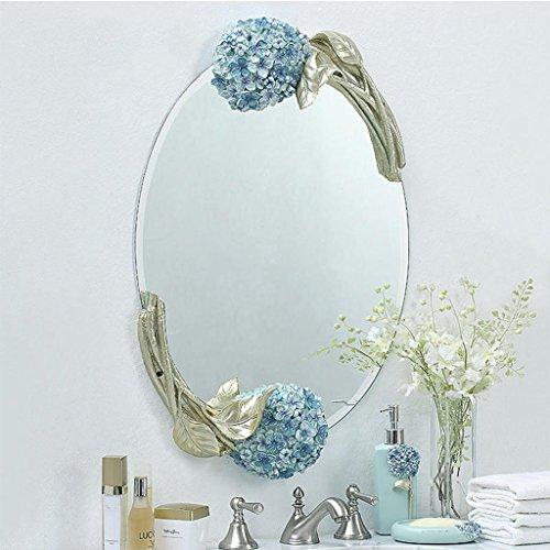 Schminkspiegel 1 Pc Frauen Neue Rose Stil Faltbare Griff Kosmetik Spiegel Mit Blume Geformt Tragbare Make-up Spiegel Hohe Belastbarkeit Schönheit & Gesundheit