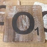 Holzbuchstaben, Deko Buchstaben aus Holz, im Scrabble-Look quadratisch Größe ca. 10 cm x 10 cm, Shabby Chic, Balsa Holz, Buchstabe O
