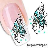 ACNails-Nagel Sticker Wasser Transfer Sticker Nailart Nagel Tattoos Nagelaufkleber Schmetterling Motive -XF1218