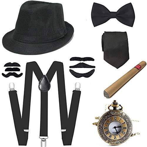 Cappello Gangster Bianco-Costume Smiffys mafia 1920s