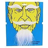 Chinesischer Bart Weiß selbstklebend klebe Bart Schnurrbärte Oberlippenbart Oberlippenbärte Karneval Fasching Kostüm Kostüme Verkleidung moustache