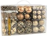 BRUBAKER 101 pezzi set di decorazioni per l'albero di Natale con puntale...