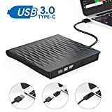 Externes DVD Laufwerk,Oudekay USB 3.0 DVD Brenner Portable USB C DVD/CD Laufwerk Slim RW DVD/CD Brenner Superspeed Tragbare CD Laufwerk für Windows10/7/8, Mac, MacBook Air/Pro, Winows, Linux (Schwarz)