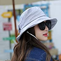 LLZTYM Cappello da Pescatore Berretto Donna Estate Parasole Crema Solare  ac6c0cf97e2c