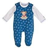 SALT AND PEPPER Baby-Jungen Strampler BG Playsuit Allover, Blau (Blue Melange 455), 56