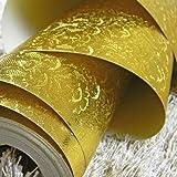 El hotel está decorado en el escaparate KTV oro plata pulido dorados techos de papel tapiz papel tapiz dorado reflectante, cable de Oro Dibujo, 53*1000