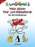 Mein dicker Mal- und Rätselblock für den Kindergarten (LernspielZwerge - Sammelblock)