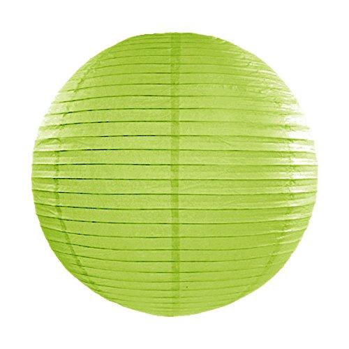 Simplydeko LAMPION Papierlaterne | Deko für Party, Garten und Hochzeit | Papierlampions (Apfel-Grün, 35 cm)