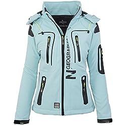 GEOGRAPHICAL NORWAY femmes Softshell fonctions plein pluie veste sport - Aqua, S