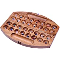 Bao-Hus-Kalaha-Bohnenspiel-Muschelspiel-Edelsteinspiel-oval-aus-Samena-Holz-Gr-L