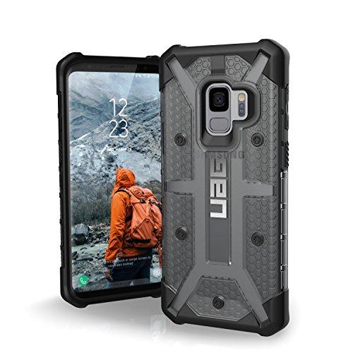 Urban Armor Gear Plasma Schutzhülle nach US-Militärstandard für Samsung Galaxy S9 - transparent (dunkel) [Verstärkte Ecken I Sturzfest I Antistatisch I Vergrößerte Tasten] - GLXS9-L-AS Ultra Light Feather Case