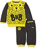 Puma Jungen BVB Minicats Jogger T-Shirt, Cyber Yellow-Dark Gray Heather, 92