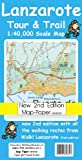 Lanzarote Tour and Trail Map Map-Paper Version