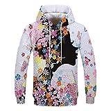 NINGSANJIN Oversize Vintage Herren Pullover Kapuzenpullover Hoodie Sweatshirt Crew-Neck (Weiß,S)