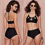 Westlicher Art- und Weisebadeanzug-einfacher Lufthalter-Bikini Frau Split Swimwear-Normallack AN -