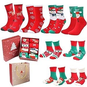 Emooqi Calcetines de Navidad, Calcetines