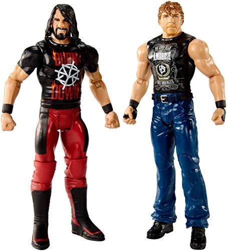 Mattel FMF91 WWE Dean Ambrose und Seth Rollins 15 cm Basis Figuren 2er-Pack, Spielzeug Actionfiguren ab 6 Jahren