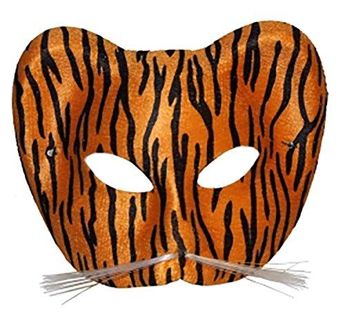 Islander Fashions Adult Leopard und Cat Eye Gesichtsmaske Unisex Kost�m Tier Party Zubeh�r Brown One Size