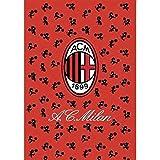 Coperta plaid invernale in pile AC Milan ufficiale 160x240 L822