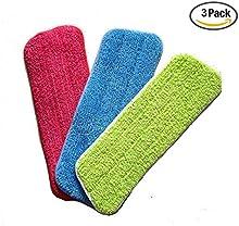 Veewon 3 x mopa de microfibra Reveal fregona almohadilla de limpieza cupo todo el spray mopas y fregonas Reveal lavable - 16.5 * 5.11 pulgadas