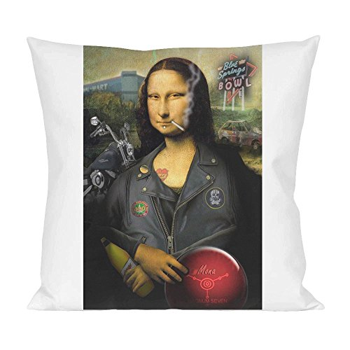 Mona Lisa Biker Pillow
