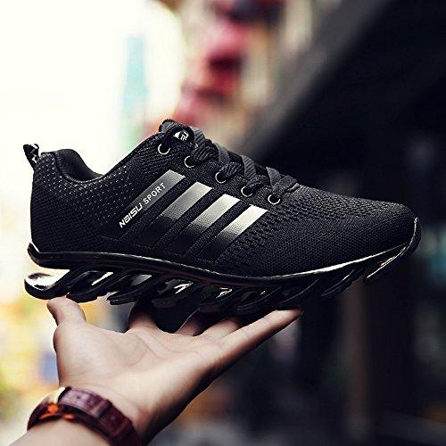 Feifei Chaussures Homme Printemps Et Automne Black Leisure Damping Chaussures De Sport (choix Multiple) (couleur: Noir, Dimensions: Eu39 / Uk6.5 / Cn40) Noir
