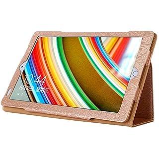 AKNICI Slim Folio Hülle Case Tasche, Kompatibel für Kivors 10,1 Zoll Tablet PC, Haehne 10,1 Zoll Tablet PC, JINYJIA 10.1 Zoll Tablet PC Etc - Gold