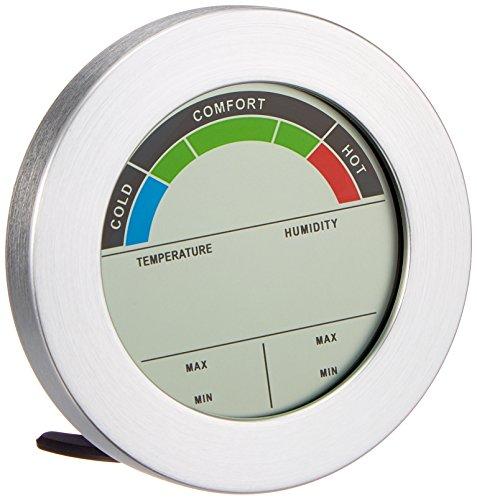 Mebus KW-9232CE digitales Thermo-Hygrometer mit Komfortanzeige, silber