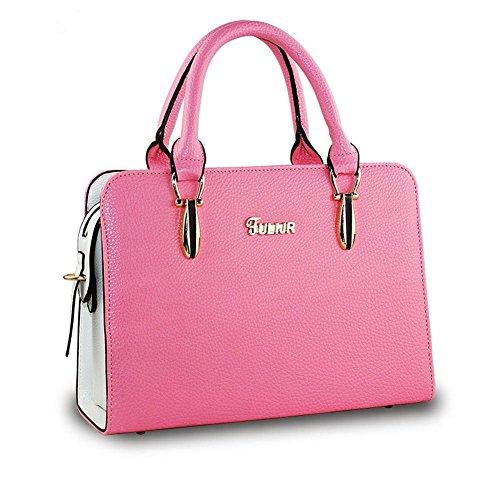 DELEY Donne Fascino Grande Capacità Top Handle Tote Handbag OL Tracolla Valigetta Borsa Borsetta Satchel Bag Rosso Anguria