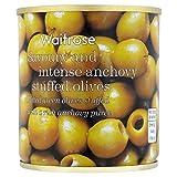 Grüne Oliven mit Sardellen Waitrose 200g Gefüllte