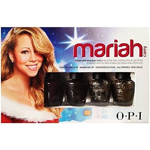 Vernis à ongles sable liquide par OPI, collection du temps des fêtes Mariah Carey Mini ensemble de quatre Vision of Love - Warm Me Up - Wonderous Star - All sparkly and gold)