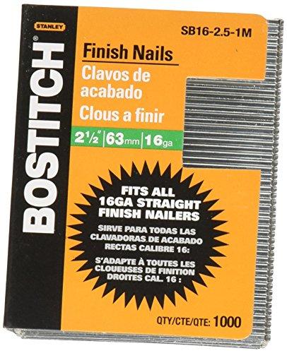 Bostitch SB16-2,5-1m 2-1/2-inch-by-16-gauge hellen Oberfläche Nail (1.000Pro Box) -