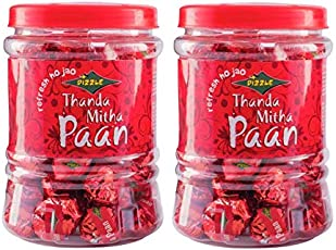 Dizzle Mint Mouth Freshener Thanda Mitha Paan(250g) (Pack of 2)